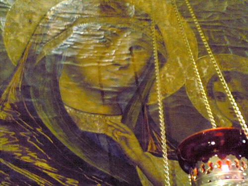 Proplakala ikona Presvete Bogorodice