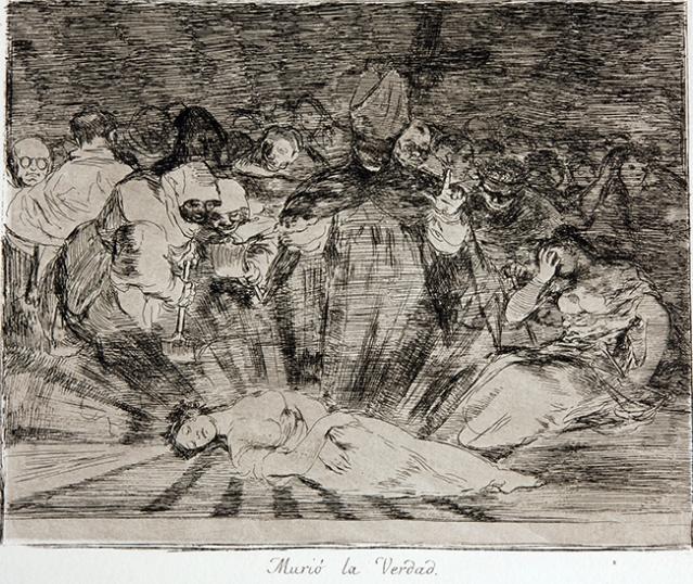 """Франсиско Гоја - """"Ужаси рата"""", лист 79. - """"Истина је умрла"""""""