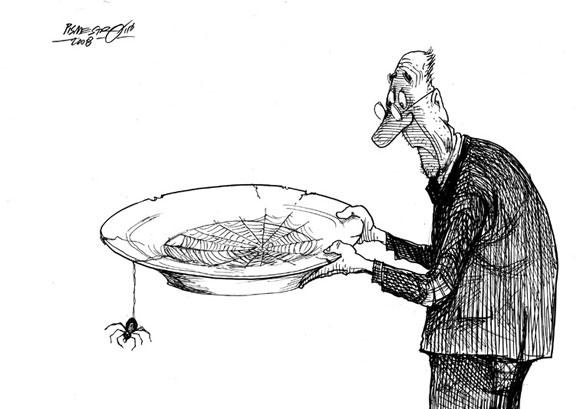 Карикатура: СИРОМАШТВО - Петар Писместровић