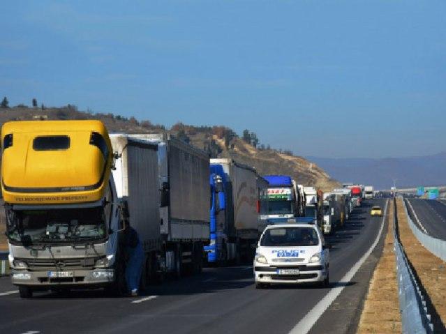 Блокада на граници Бугарска - Грчка (Фото: БТА)