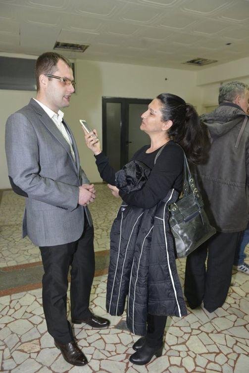 Немања Спаловић, председник Друштва историчара Ужица и Биљана Диковић, новинар