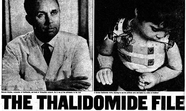 Thalidomide newspaper