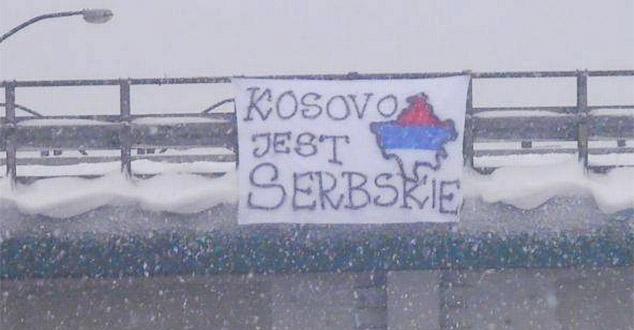 """Фото: """"Сви навијачи света Косово је Србија"""""""