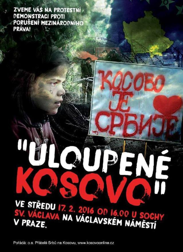 PLAKAT OTETO KOSOVO CESI PROTEST