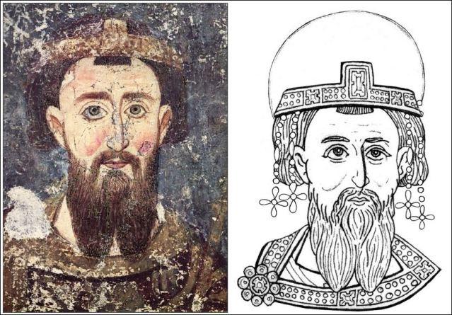 1. Велики жупан Стефан Немањић Милешева 1219. 2. Стефан Првовенчани краљ Српски Милешева 1221.
