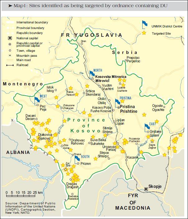 UNEP- ИЗВЕШТАЈ О УРАНИЈУМСКИМ ЦИЉЕВИМА http://postconflict.unep.ch/publications/uranium.pdf