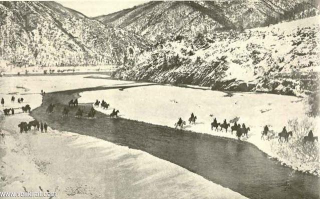 Serbian-Army-Crossing-river-Drim