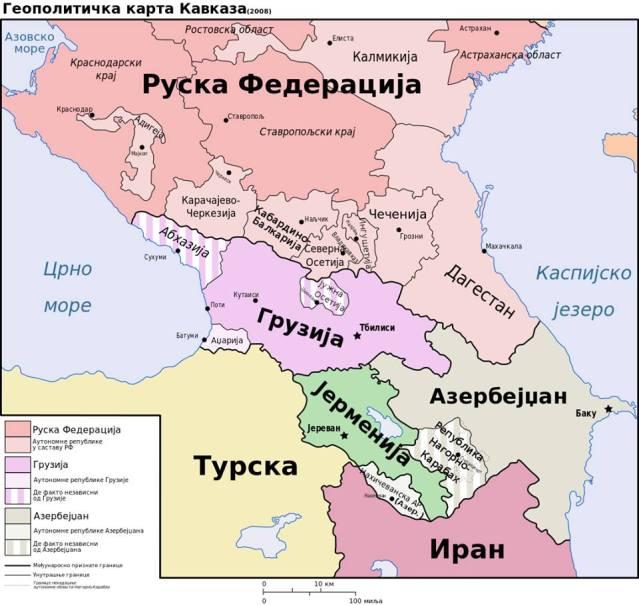 мапа кавказа