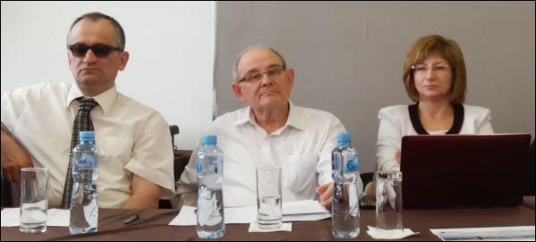 Детаљ да конференције: Џевад Галијашевић, Коста Чавошки и Ања Филимонова