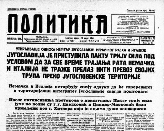 Politika-26-mart-1941-godine