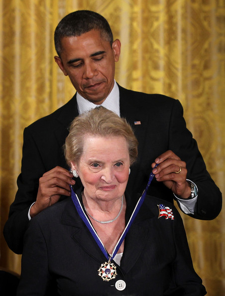 Obama and Albright