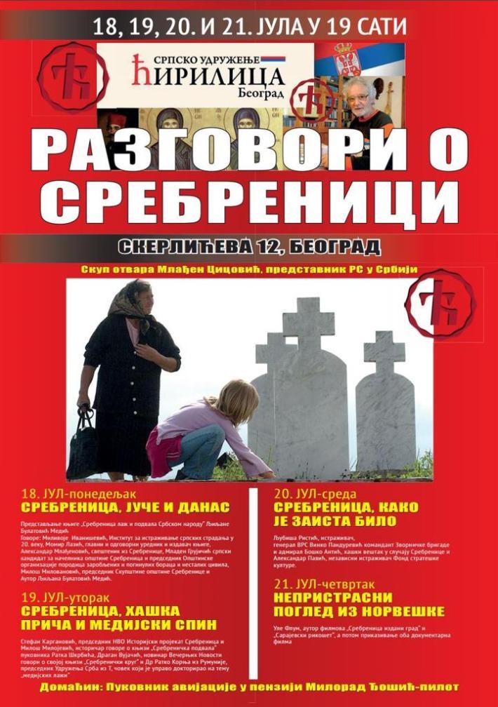 Razgovori o Srebrenici