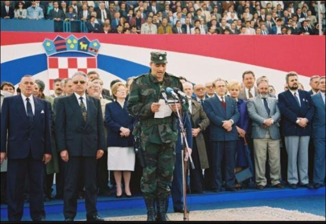 28. svibnja 1991. – na stadionu NK Zagreb održana velika smotra ZNG-a
