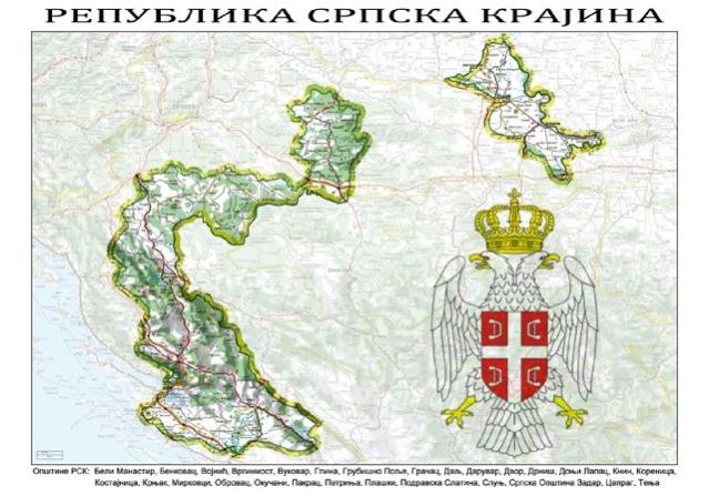 0002. Mapa Republike Srpske Krajine