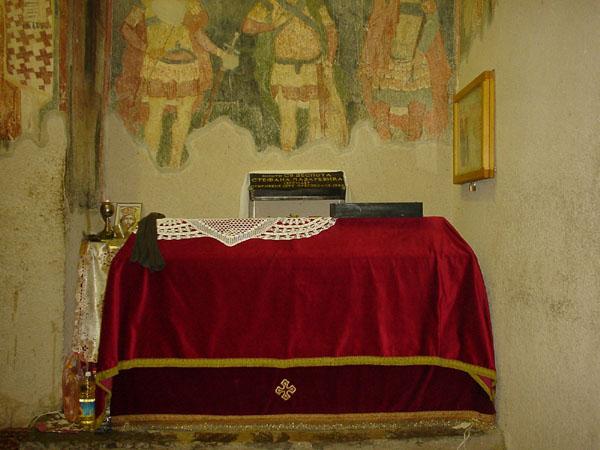Мошти Светог деспота Стефана Лазаревића у манастиру Копорин