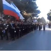 Цео град је изашао да поздрави руску војску. Парада руских морнара у Александрополису, Грчка
