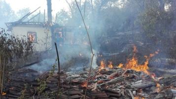 Arilje izgorela kuca u pozaru 17092017 foto GZS