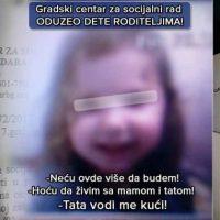 Душко Велковски: О ОДУЗИМАЊу ШЕСТОГОДИШЊЕ ДЕВОЈЧИЦЕ ОД ОБА ЊЕНА РОДИТЕЉА