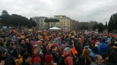 Protest protiv obavezne vakcinacije - Rim, Italija