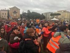 Protest u Rimu protiv obavezne vakcinacije