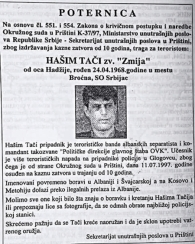 Дик Марти је Тачија оптужио за ратни злочин