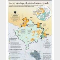 """Француски медији: Ово је """"нова мапа Косова"""" (ФОТО)"""