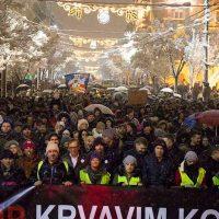 НСПМ: Више десетина хиљада грађана окупило се на протесту против насиља у Београду