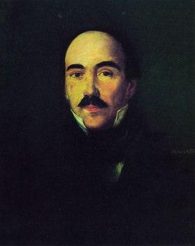 Вук_Ст._Караџић-1832 (уље на платну Димитрија Лактарија 1832. Народни музеј у Београду)