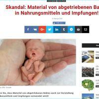 Skandal: Material von abgetriebenen Babys in Nahrungsmitteln und Impfungen! (Скандал: Материјал од абортираних беба у храни и вакцинама!)