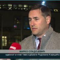 Адвокат Сладојевић: Радован Караџић српском народу после пресуде је поручио (видео)