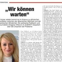 Драгана Трифковић за немачки часопис Zuerst: Знамо да је Косово наше